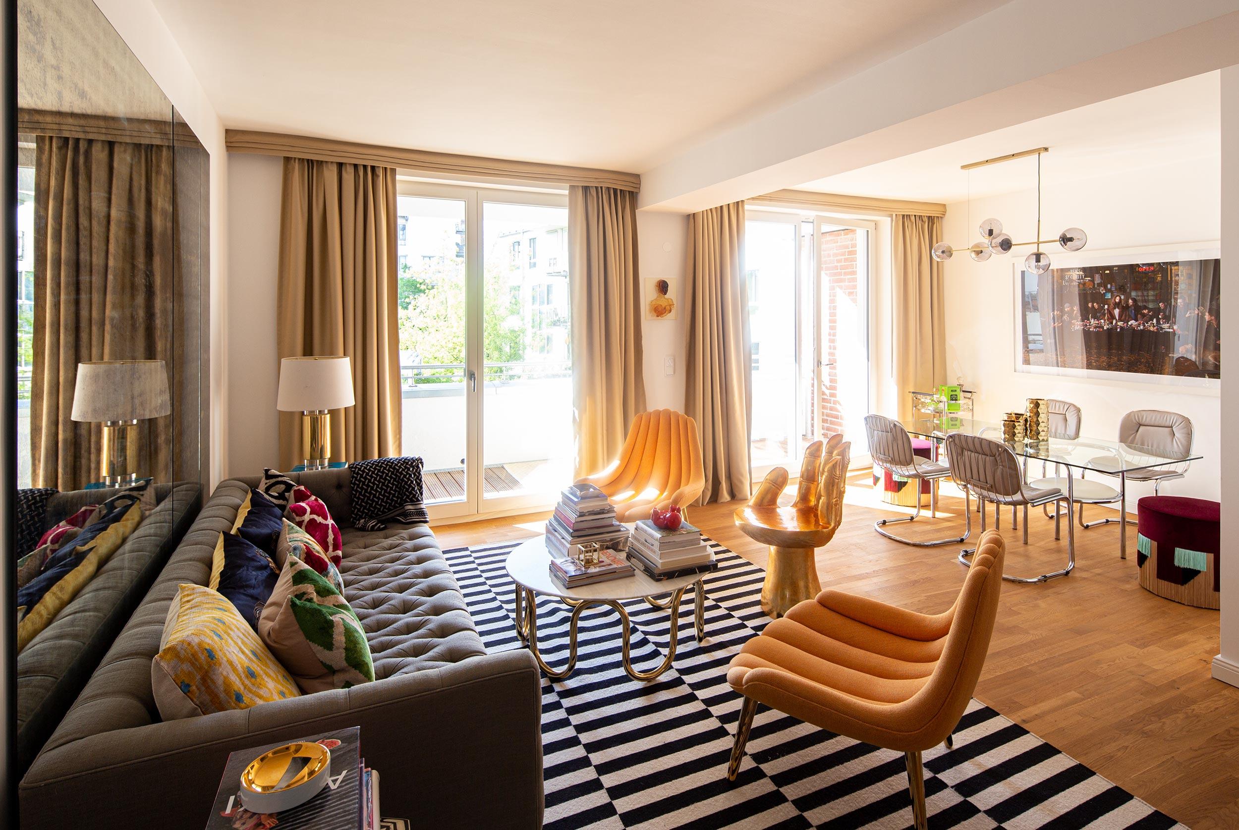 Luxuriöse Designerwohnung mit stilvollen Details